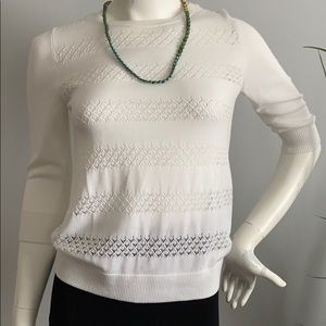 Banana Republic White Knitted Top